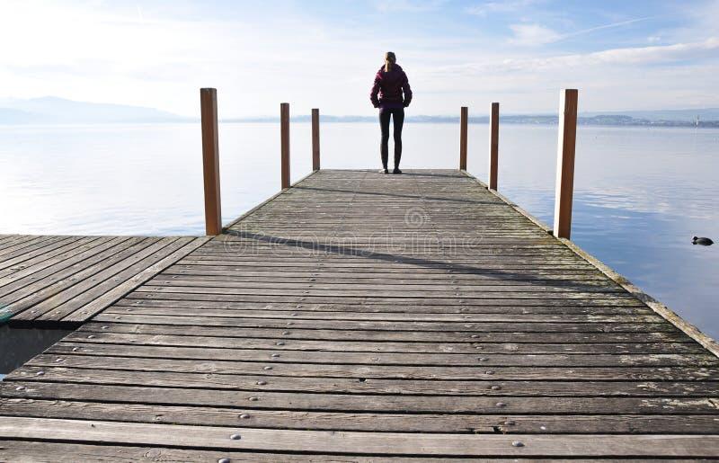 Lago di Zugo, Svizzera fotografia stock libera da diritti