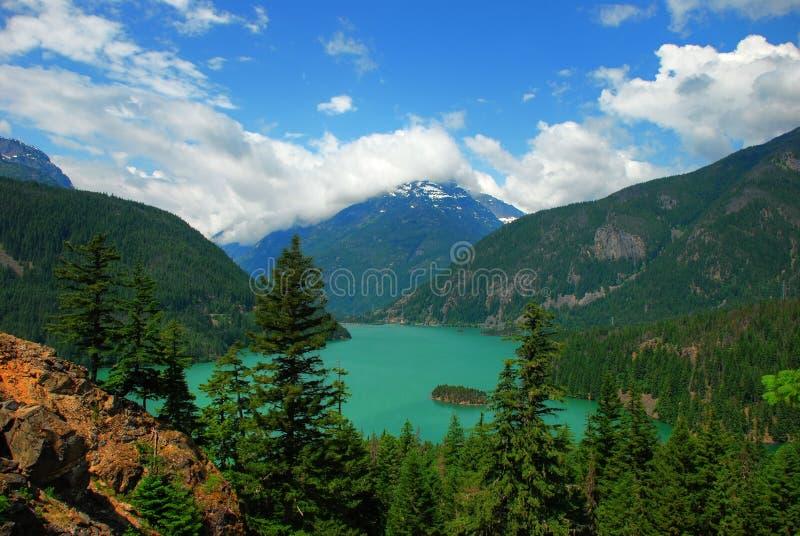 Lago diablo fotografie stock libere da diritti