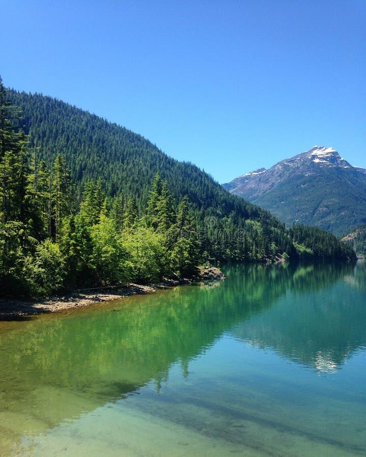 Lago Diablo foto de stock