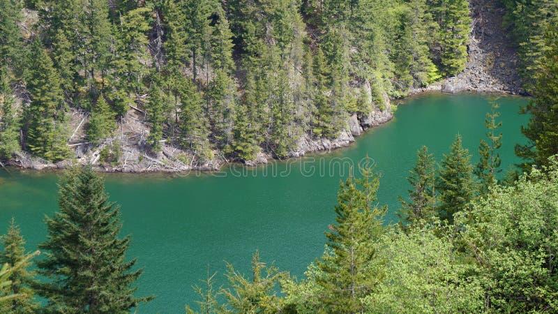 Lago Diablo Washington State, U.S.A. fotografie stock