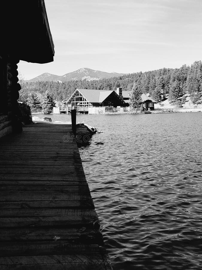 Lago Dillion, Colorado immagini stock libere da diritti