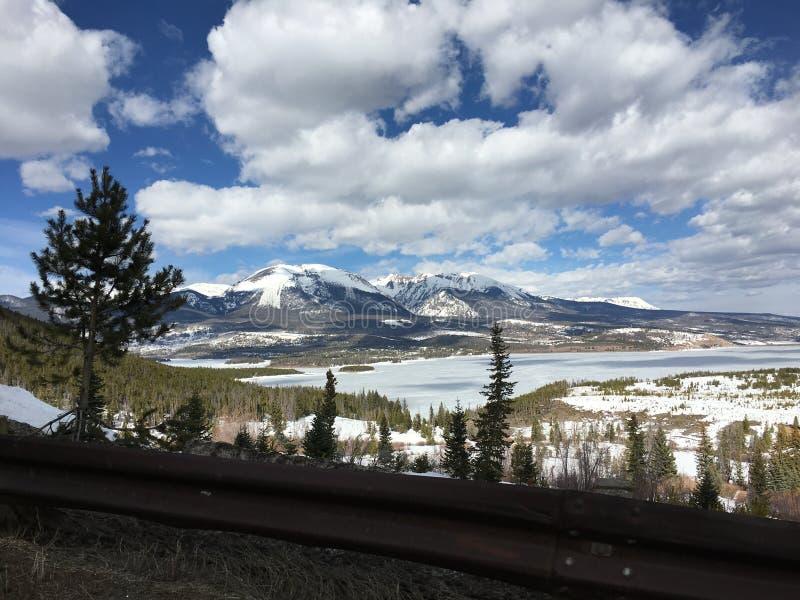 Lago Dillon no inverno fotos de stock royalty free