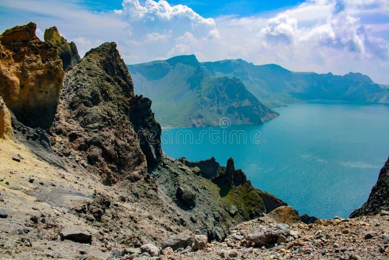 Lago do céu fotografia de stock