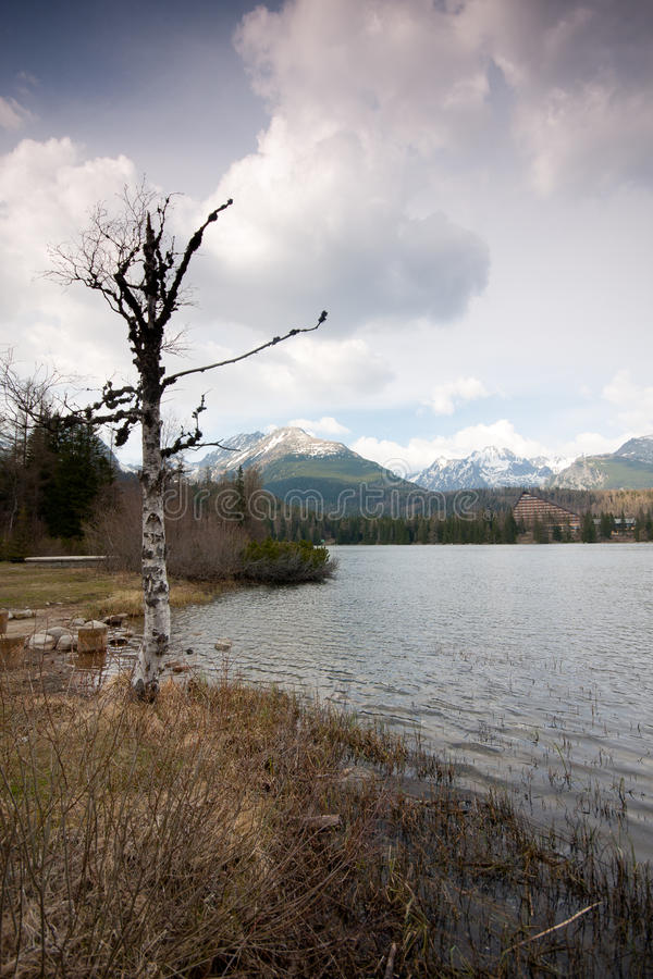 Lago do pleso de Strbske imagem de stock royalty free