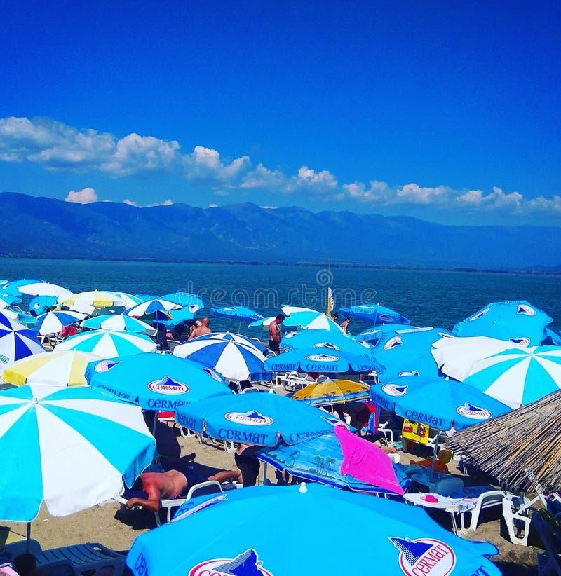 Lago Doiran, Macedonia fotografia stock
