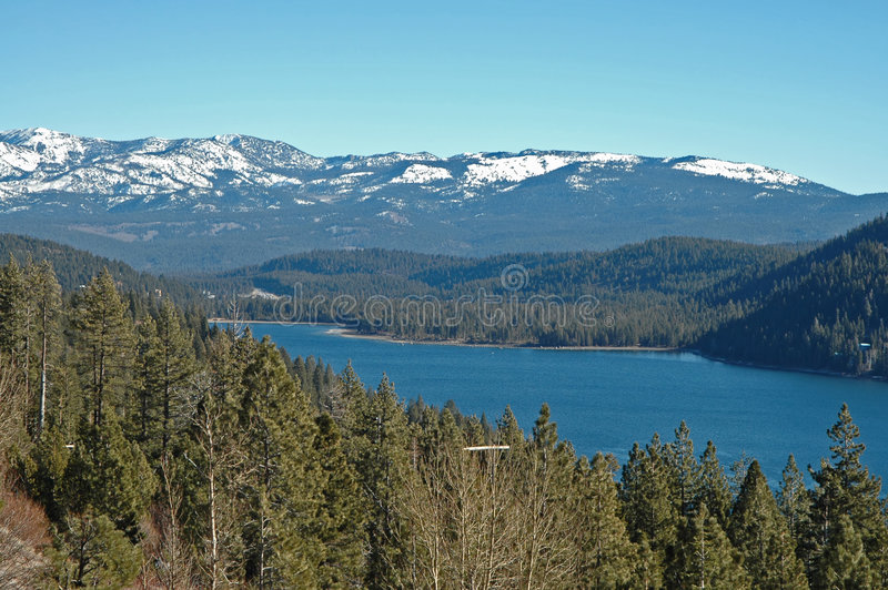 Lago Donner imagens de stock