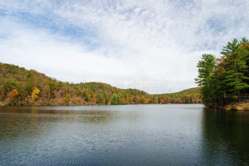 Lago Douthat fotografie stock