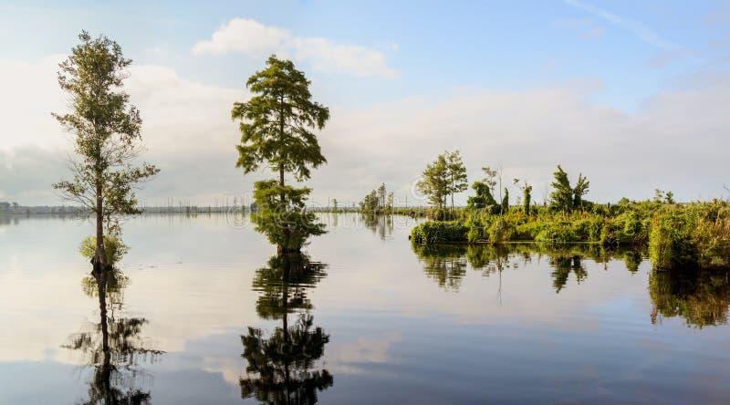 Lago Drummond foto de stock royalty free