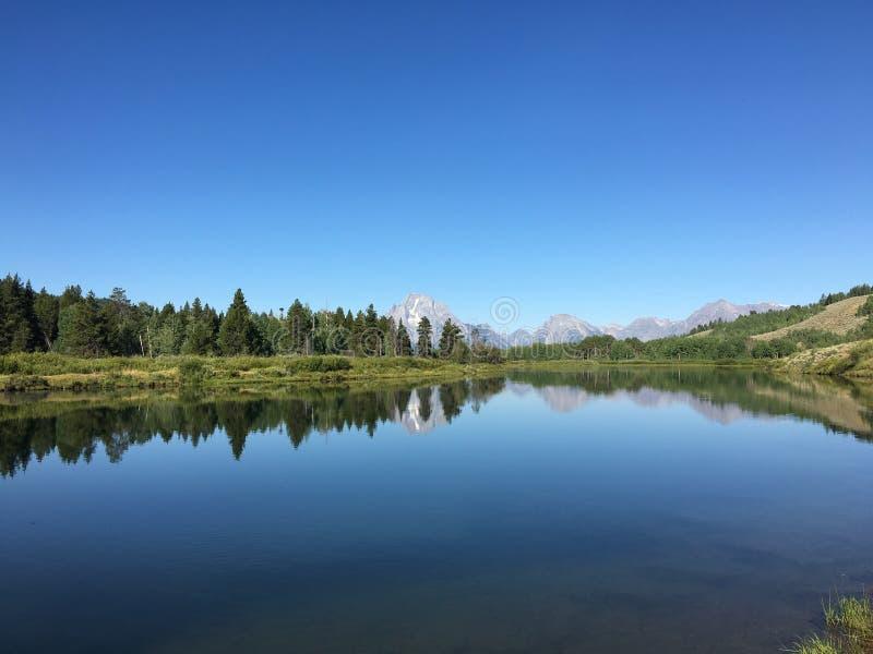 Lago e riflessione peace immagine stock