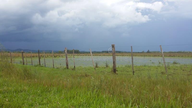Lago e tempestades fotografia de stock