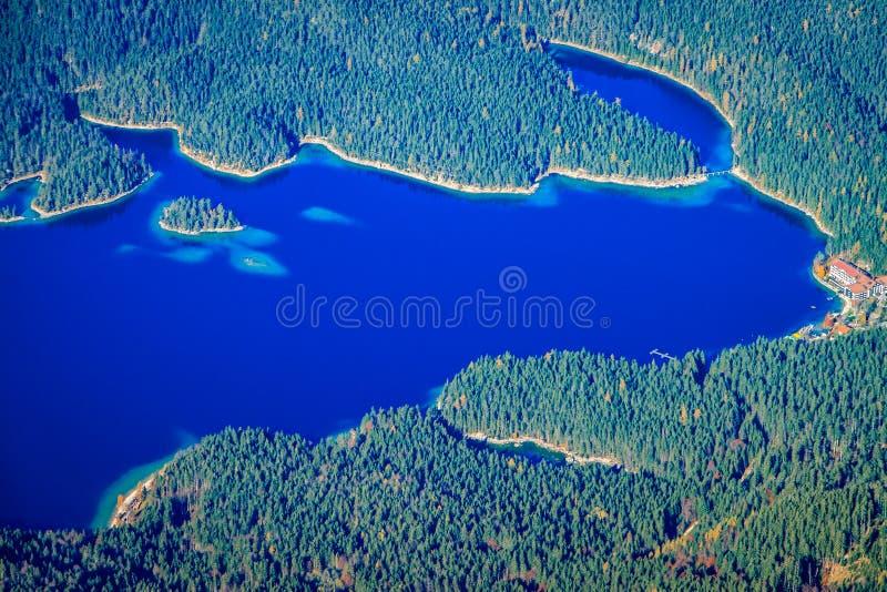 Lago Eibsee foto de archivo