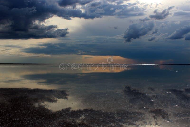 Lago Elton foto de stock