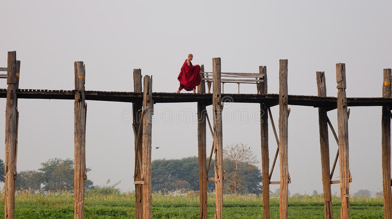 Lago em Amarapura, Mandalay fotos de stock
