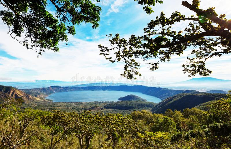 Lago em El Salvador fotos de stock