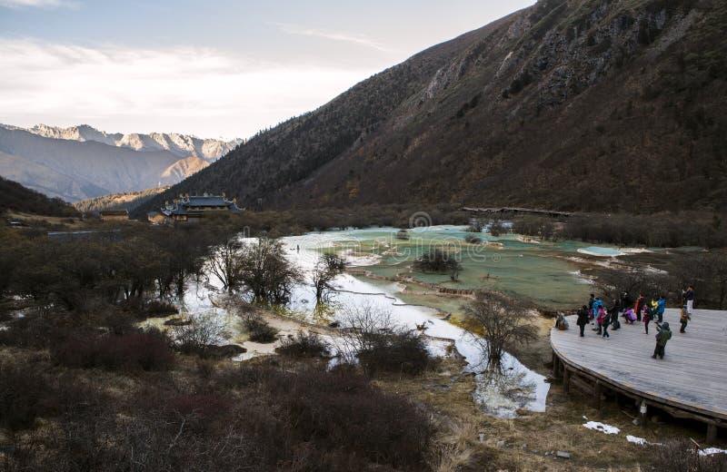Lago em Huanglong fotos de stock royalty free