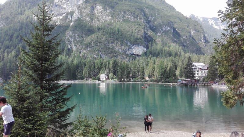 Lago em Itália fotografia de stock