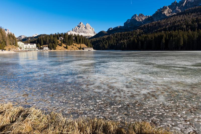 Lago em Italia imagens de stock