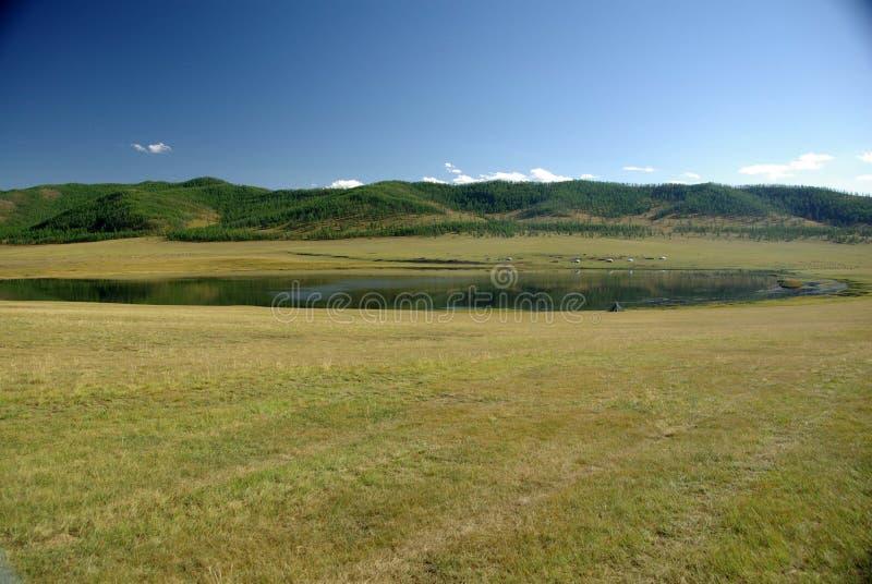 Lago em Mongolia fotos de stock