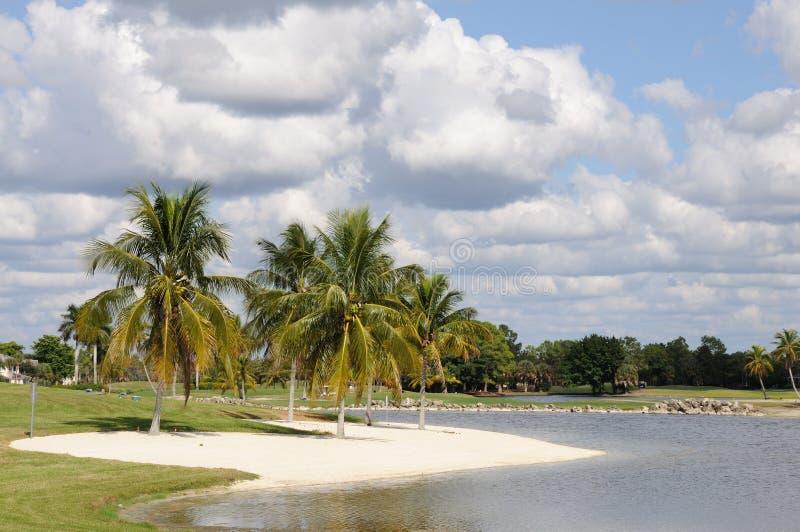 Lago em Nápoles, Florida imagens de stock