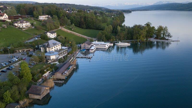 Lago em Switzerland foto de stock