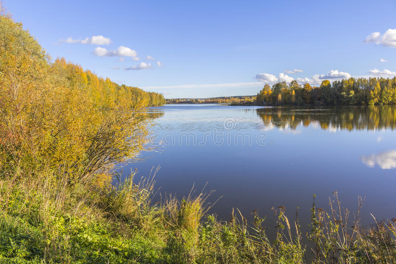 Lago em Tampere imagem de stock royalty free