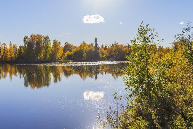 Lago em Tampere foto de stock royalty free