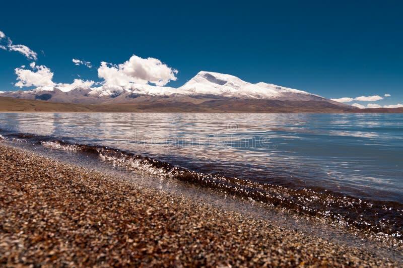 Lago em Tibet foto de stock