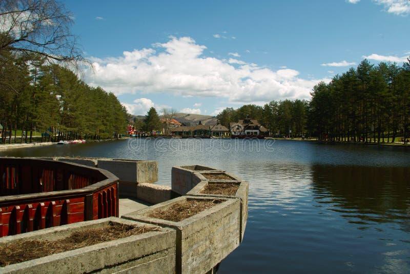 Lago em Zlatibor imagens de stock royalty free