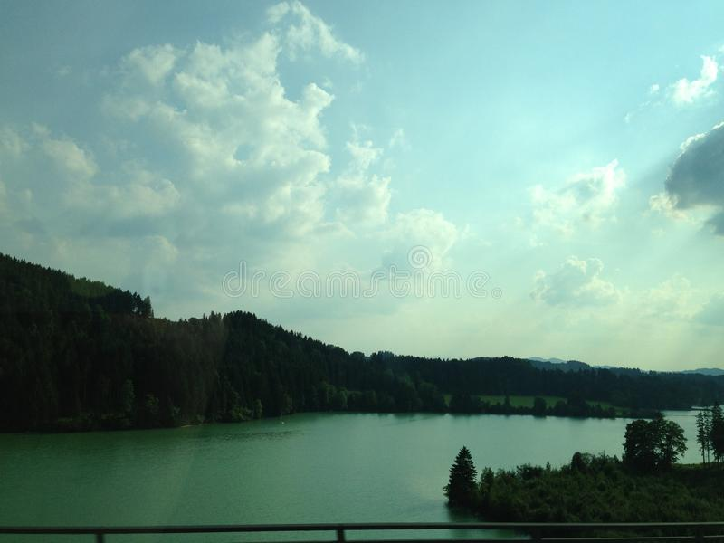 Lago en Alemania foto de archivo