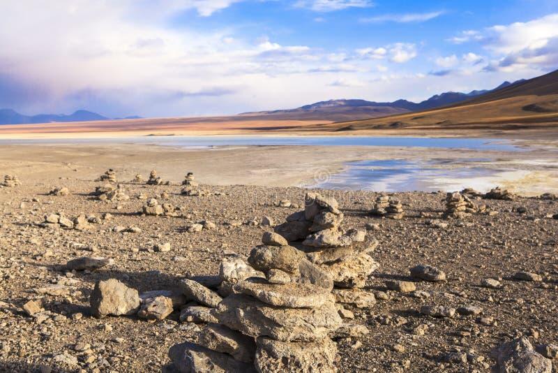 Lago en Bolivia foto de archivo libre de regalías