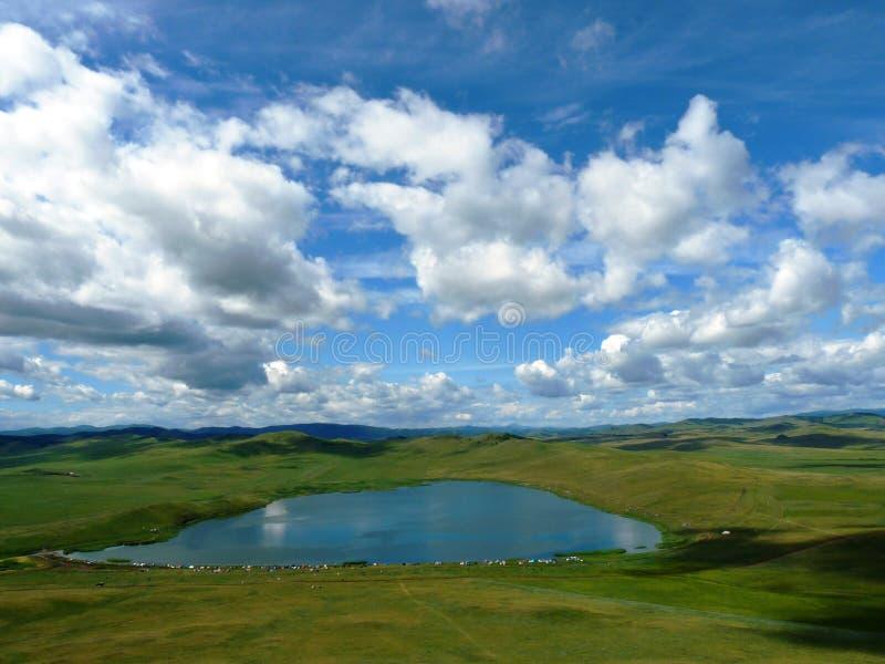 Lago en el llano fotografía de archivo libre de regalías