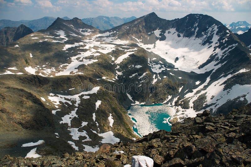 Lago en el mountains-01 foto de archivo