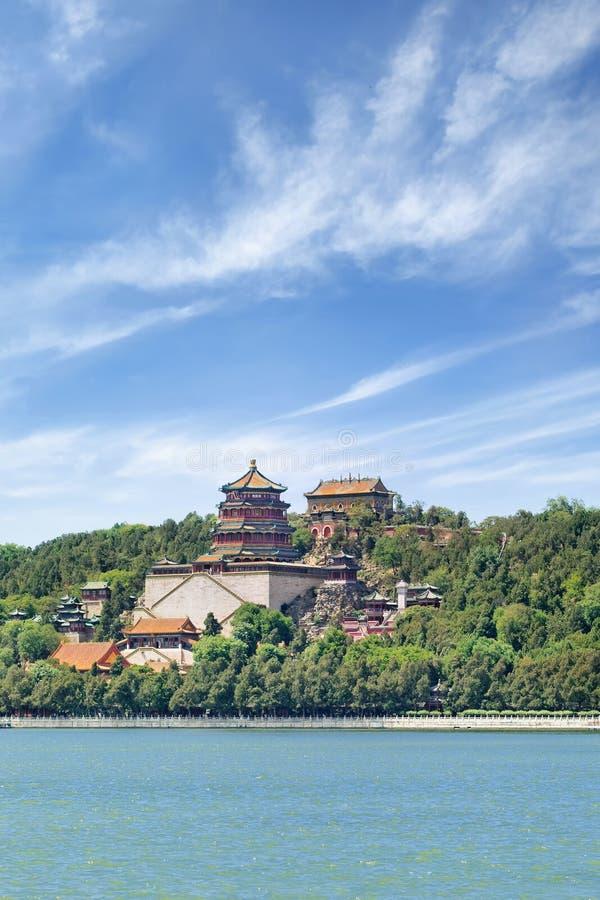 Lago en el palacio de verano, Pekín, China kunming fotografía de archivo libre de regalías