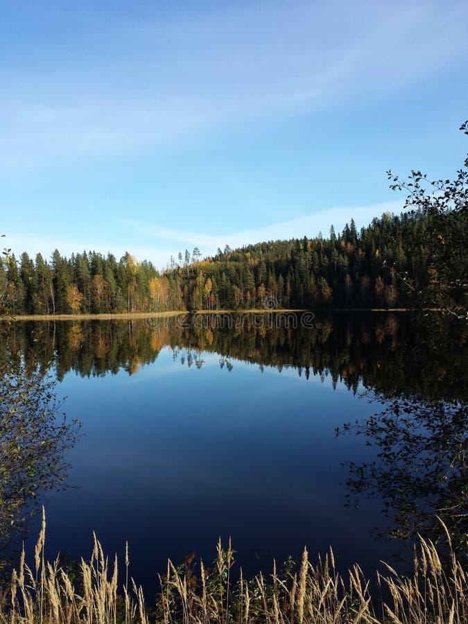 Lago en Finlandia fotografía de archivo