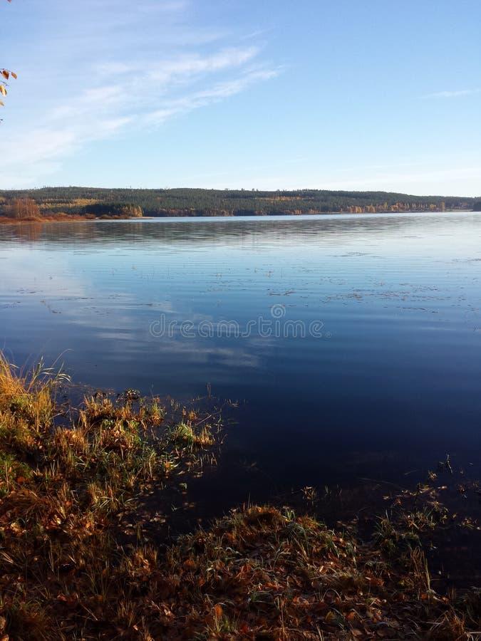 Lago en Finlandia fotos de archivo libres de regalías
