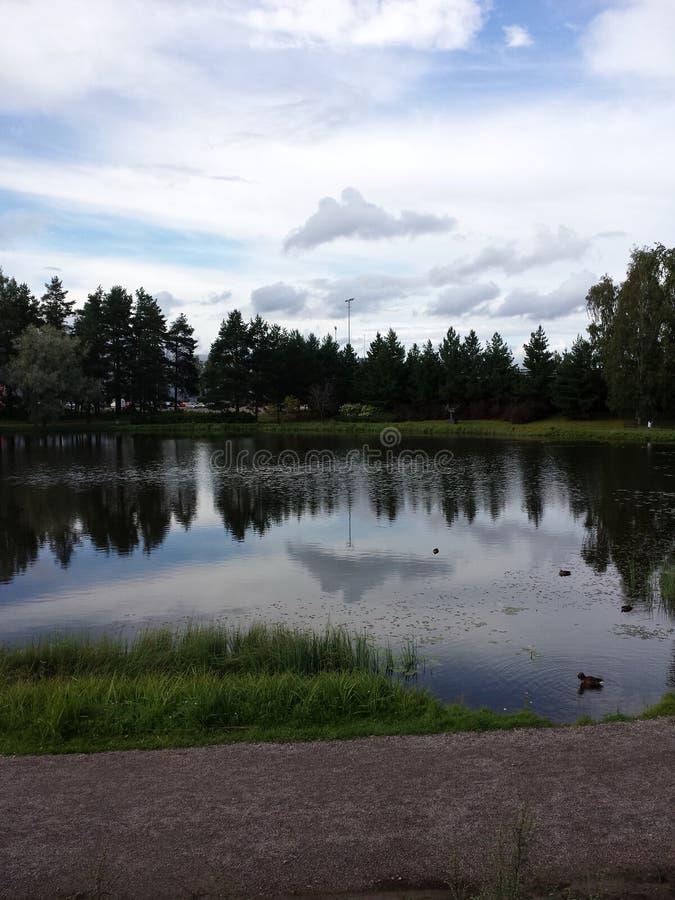 Lago en Finlandia imágenes de archivo libres de regalías