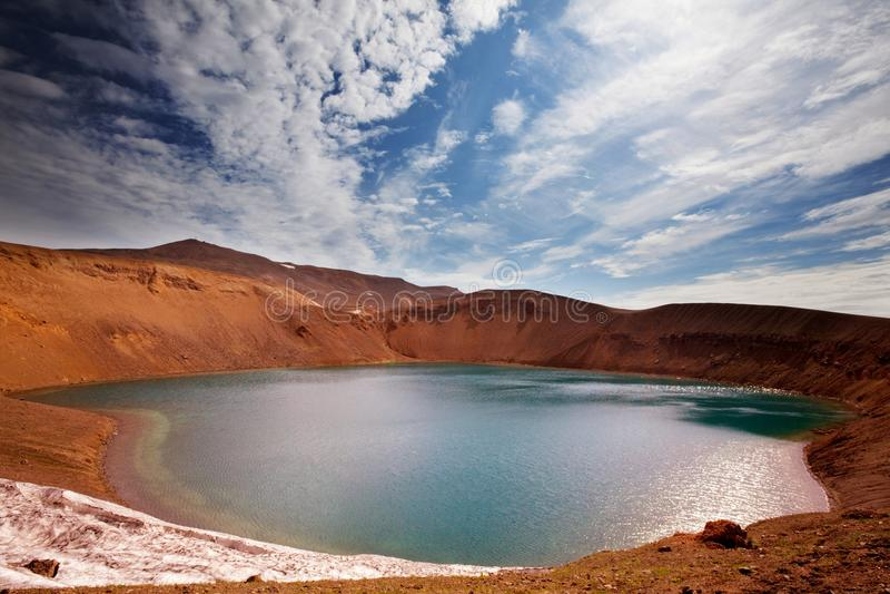 Lago en Islandia foto de archivo