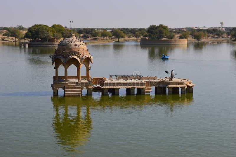 Lago en Jaisalmer fotografía de archivo libre de regalías