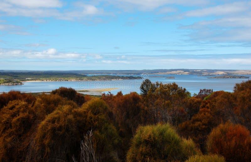 Lago en la isla del canguro, Ausltralia del sur fotografía de archivo libre de regalías