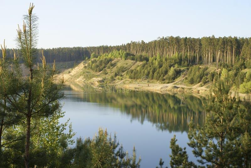 Lago en madera imagenes de archivo