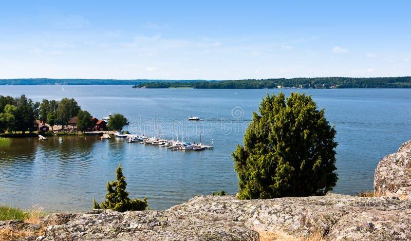 Lago en Suecia. fotografía de archivo libre de regalías