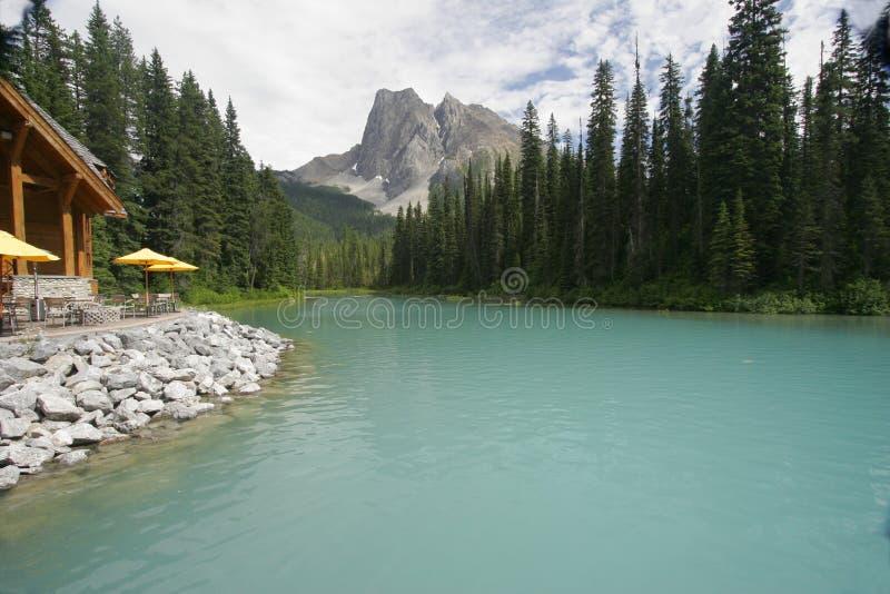 Lago Esmeralda, Canadá Fotografía de archivo