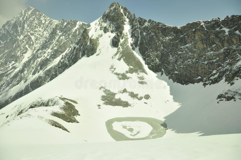 Lago esquelético en la región Himalayan fotografía de archivo