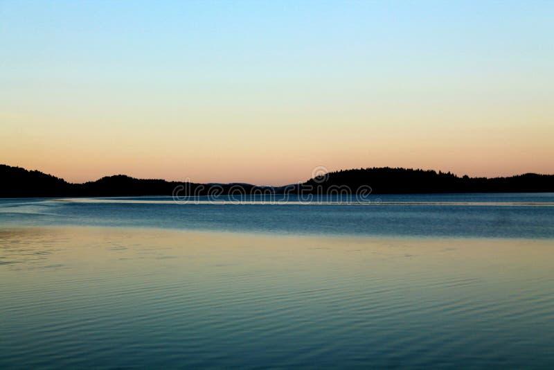 Lago evening fotografia stock libera da diritti