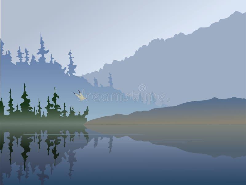 Lago fall ilustração do vetor