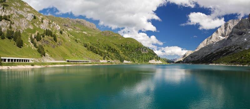 Lago Fedaia, Panorama stockbild