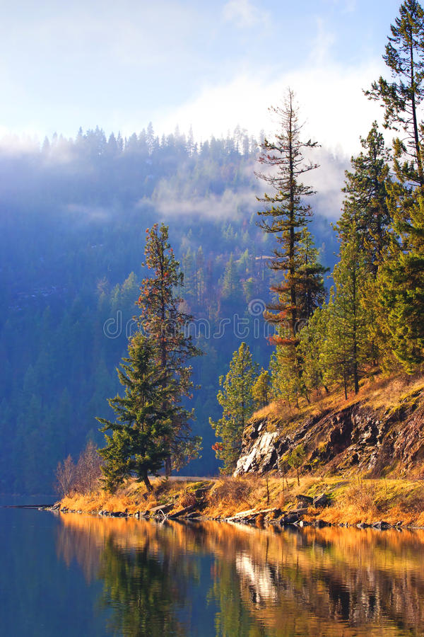 Lago Fernan, Idaho imagens de stock royalty free