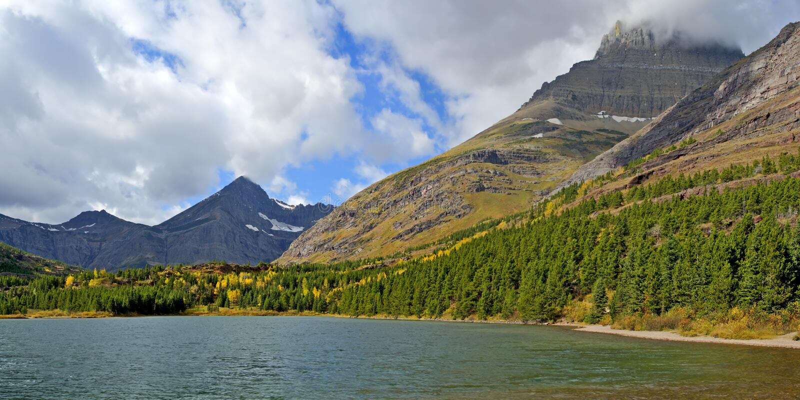 Lago Fishercap en muchos glaciar imagen de archivo libre de regalías