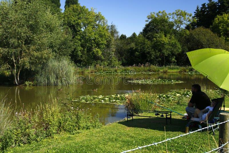 Lago fishing imagen de archivo libre de regalías