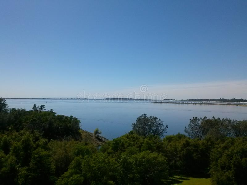 Lago Folsom fotografia stock